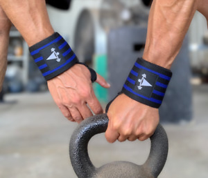 Wrist Wraps Weight Power Lifting Gym Fitness Training Support Bandages CrossFit