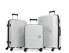 GinzaTravel Anti-scratch PP Material large capacity white Luggage Suitcase