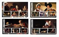2017 CARAVAGGIO  ART PAINTINGS 6 SOUVENIR SHEETS MNH UNPERFORATED