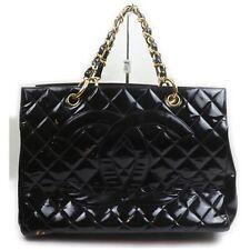 Chanel Tote Bag  Black Enamel 1602661