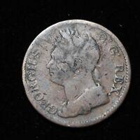 IRELAND HIBERNIA GEORGE IV 1822 HALF 1/2 PENNY, GAELIC HARP - Lot #1305