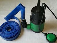 400W SUBMERSIBLE DIRTY WATER PUMP WITH FLOAT SWITCH 20M X 25mm HOSE & 2 CLIPS