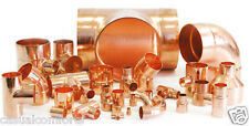 8MM 10MM,15MM,22MM COPPER END FEED PIPE FITTINGS,COUPLER,ELBOW,EQUAL TEE,STOPEND