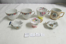 Beautiful Vintage Lot of 7 Made In Occupied Japan Dishes 5 Mini Tea Cups + 2 pcs