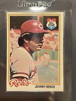 1978 TOPPS #700 JOHNNY BENCH HOF Cincinnati Reds Baseball Card N.L. All Star C