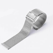 12mm-24mm Stainless Steel Mesh Bracelet Watch Band Replacement Strap Unisex Pro