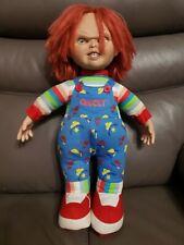"Vintage Chucky 🔪 17"" Plush Doll Sideshow Toys Child's Play 2 Original 1999 used"