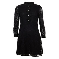 iBlues Max Mara Dress Black Floral Lace Sebino RRP £205 BG