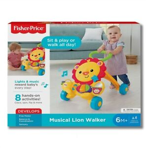 Fisher-Price MUSICAL LION WALKER Fun Hands-On Baby to Toddler Toy Music & Lights