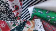 10 Noël Vert En Polycoton Patchwork, artisanat, vestige, matériel, tissu