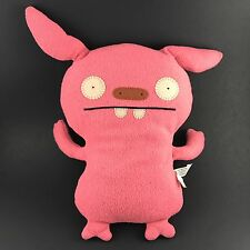"""Ugly Doll Uglydoll Little Huggable 12"""" Plush Pink Puglee DISCONTINUED RARE 2007"""