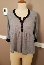Amazing Gray Short Sleeve Top By Free People!! Size Small!!