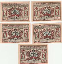 Notgeld.Naugard.25/50/75 Pfennig,1,3 Mark.Mit Stempel.!!#41