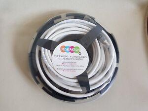 Câble Ethernet RJ45 Blanc 5 m UP TQ 10 GIGA Cordon Professionnel 6A TIA/EIA