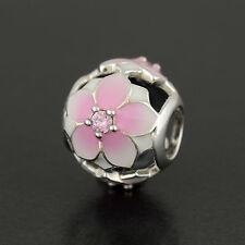 Pandora Originale Rosa Magnolia Fiore Charm S925 ALE