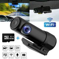 HD 1080p WIFI Hidden Car Dash Cam 170° Night Vision Car DVR Camera +32GB TF Card