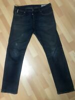 Mens Diesel BUSTER STRETCH Denim 0857Z DARK BLUE R/Slim W34 L32 H7 WORN