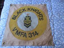 Modern Usmc Vmfa-314 Black Knights Squadron Ready Room Bar Wall Flag