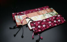 Luxury Sleeve silk embroidery pouch for gift