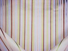 26Y Brunschwig & Fils Spectrum Silk & Linen Stripe Brown Green Upholstery Fabric