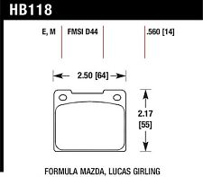 Hawk Performance HB118V.560 Designed For High Deceleration Rates Disc Brake Pads