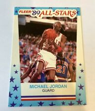 1989-90 Fleer Michael Jordan All Star Sticker Basketball Card