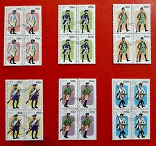 Togo 1997 Military Uniforms Stamp Set Blocks Of Four Franked Never Used