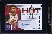 2020-21 NBA Hoops James Wiseman Warriors Signature Rookie Auto SSP PSA Ready