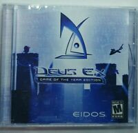 Deus Ex Game of the Year Edition PC CD-Rom Video Game Windows 95 98 Rare English
