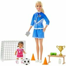 Barbie Careers Soccer Coach Blonde with Toddler You Can Be Anything Play Set