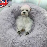 Comfy Calming Dog/Cat Bed Round Super Soft Plush Pet Bed Marshmallow Cat Bed UK~