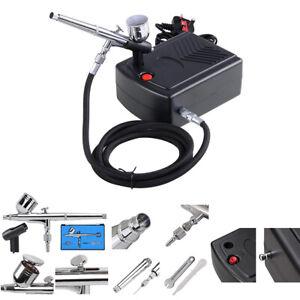Nozzle Spray Gun Mini Airbrush Kit Compressor Air Brush Paint Nail Dual Action