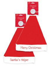 Red Felt Santa Claus Hats Unisex Christmas Party Fancy Dress Festive Merry