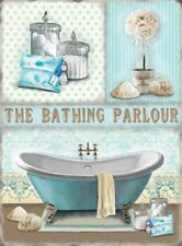 THE BATHING PARLOUR BATHROOM EN SUITE TOILET LOO RELAX METAL PLAQUE TIN SIGN 106
