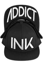 Ink Addict Tattoo Inked Up Punk Goth Skater Urban Embroidered Snapback Hat Cap