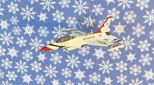Custom Christmas Ornament USAF US Air Force Jet Fighter Plane Airplane