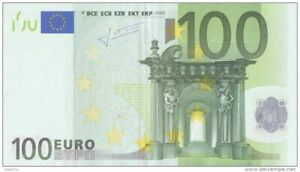 € 100 EURO BANKNOTE BILL REAL CURRENCY For Your Travel  To EUROPE