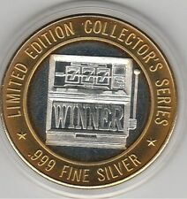 1997 Dakota Magic Dice WINNER Slot Machine .999 Fine Silver Strike Casino Token