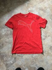 Puma Red Athletic Mens T-Shirt L Large