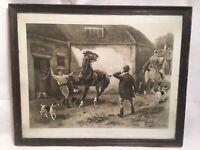 Early 20th Century Hermann Fleury Junior Print ,The Sale Of A Hunter Framed