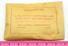 Lionel No. 027C-19 Packet Contents 12No. 027C-1 clips for use with '027 ~ sealed