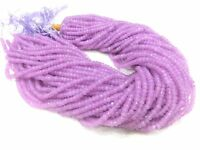 "5 Strands Purple Chalcedony Rondelle 4-4.5mm 13""Inch Faceted Gemstone Beads"