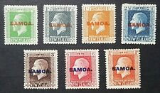 Samoa: Stamps of New Zealand King George V overprinted SAMOA; complete mint set