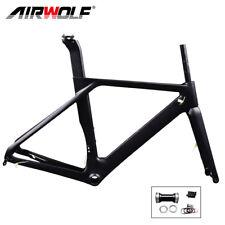 AIRWOLF Carbon Frame Rennrad Rahmen Fahrradrahmen Sattelstütze Gabel Frameset 52