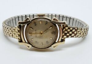 Vintage LeCoultre Swiss Mechanical 14K Yellow Gold 17J Ladies Wrist Watch