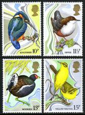 Great Britain 884-887 MNH Birds Kingfisher,Dipper,Moorhen,Yellow Wagtail
