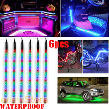 "6X RGB 32LED/12"" Flexible Light Strip for Car Boat Truck DRL Waterproof DC 12V"