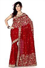 Indian Bollywood Designer Gorgeous Ethnic Bhagalpuri Silk Embroidery Saree Sari