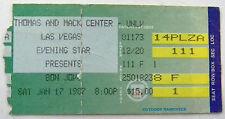 BON JOVI Concert Ticket Stub SLIPPERY WHEN WET tour  Las Vegas NV - Jan. 17 1987