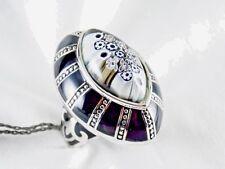 Genuine Murano Millefiori Glass Ring Alan K 925 Sterling Silver Size 6